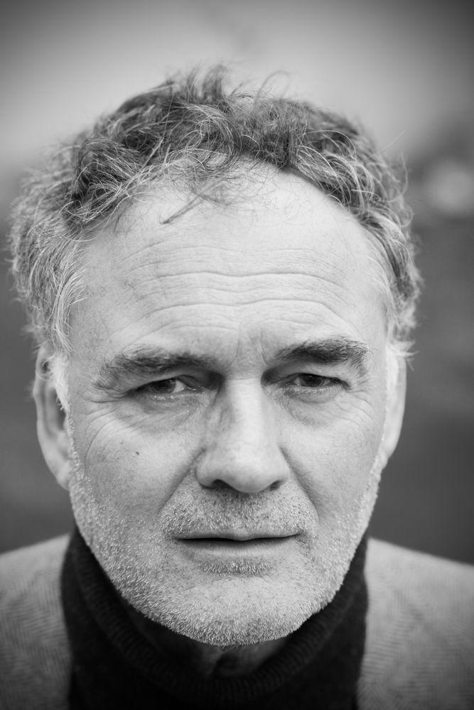 JC Bretigniere acteur, portrait noir et blanc